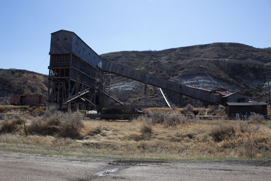 Abandoned Abandoned Buildings Abandoned Places Architecture Blue Built Structure Clear Sky Coal Coal Mine Day Mine Mining Mining History Of America Mountain Nature No People Old-fashioned Outdoors Road Sky Transportation