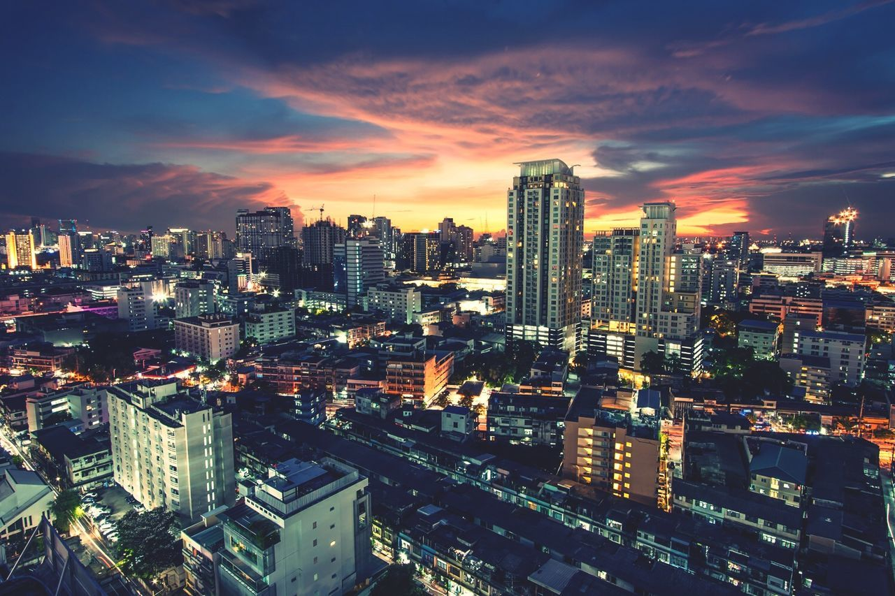 City at night City Cityscapes Cityscape Building Urban Bangkok Night Open Edit Landscape Office Building