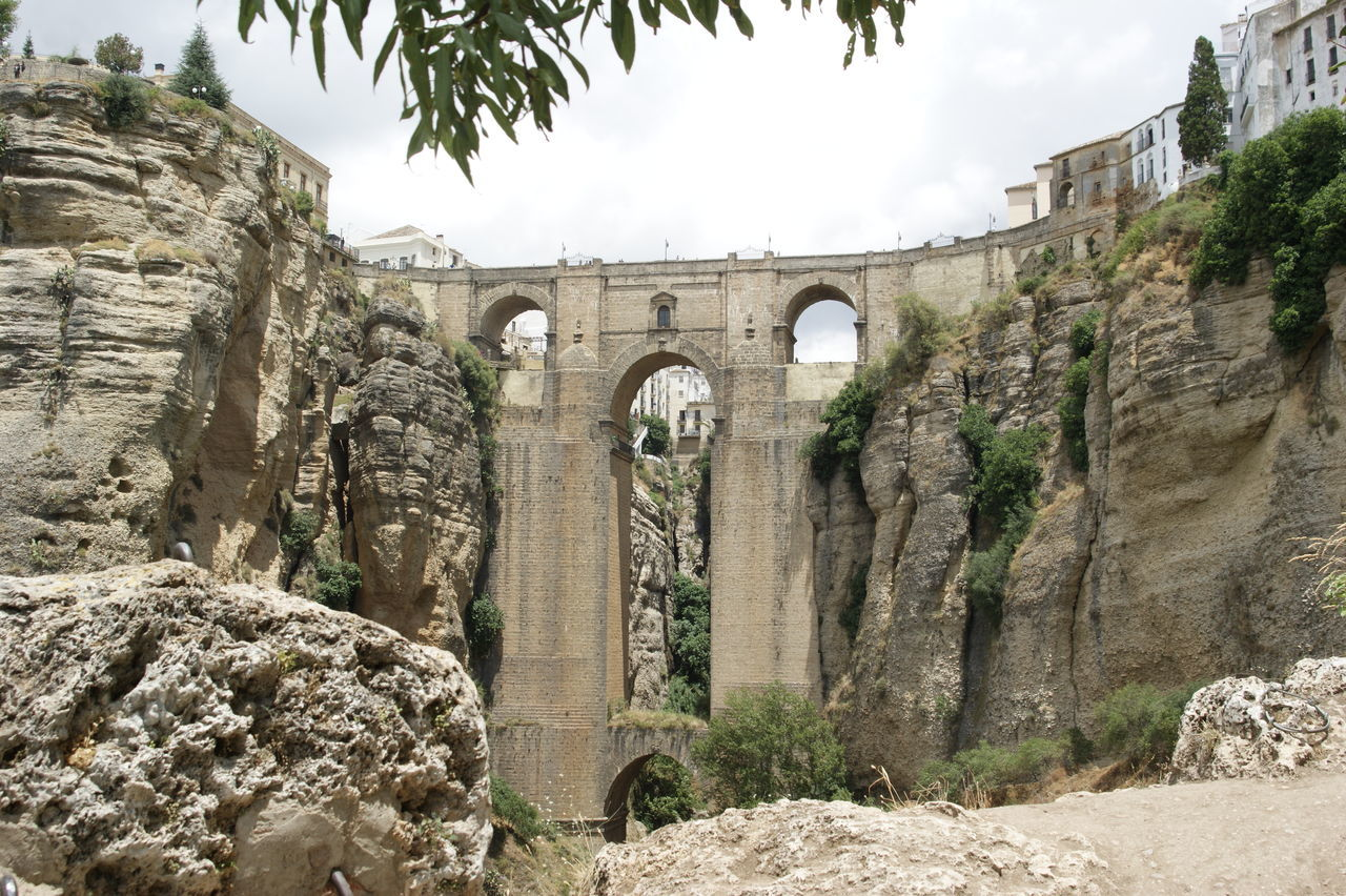 Architecture Bridge Canyon History No People Ronda Spain Stone Travel Destinations