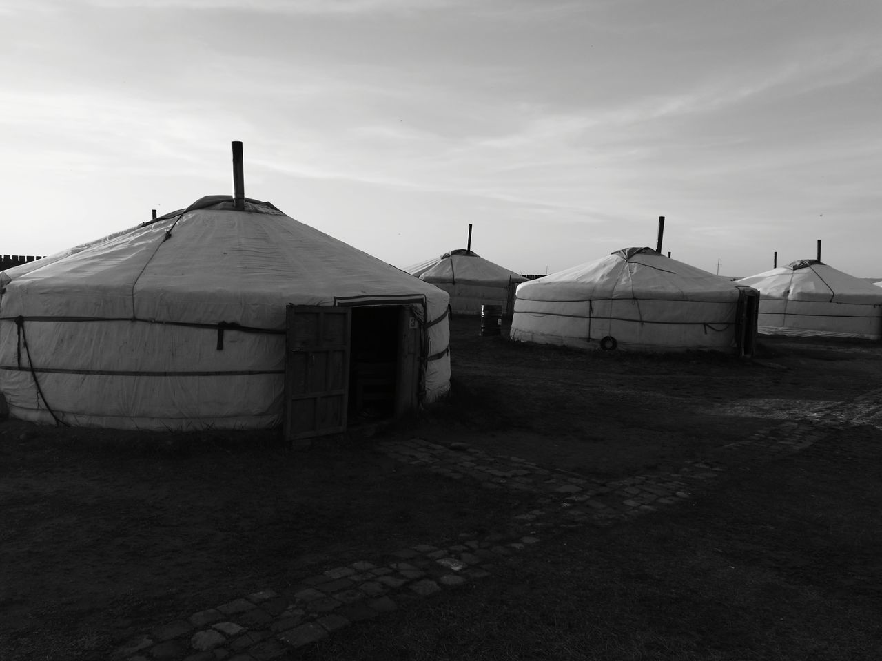 Mongolia Nomads Nomadiclife Jurte Yurtlife Blackandwhite Nofilter HuaweiP9tTraditional Traditional Culture Outdoors