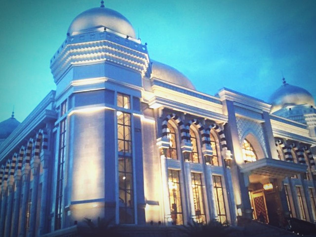 Beautiful modern masjid within the trans complex in Bandung. Awesome.. Architecture Dome Travel Destinations History Built Structure Government Sky Gold Colored Building Exterior Illuminated Gold Politics And Government Outdoors City No People Day