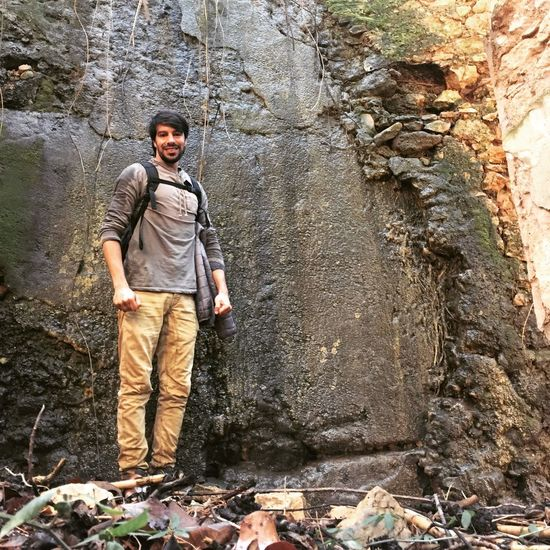 One Person Rock - Object Confidence  Nature Mountain Hello World Oran .Algeria. Beauty In Nature Nature Oran Algeria Model Fashion Style One Man Only Looking At Camera Only Men Young Adult Forest Outdoors Standing Adults Only Portrait Day