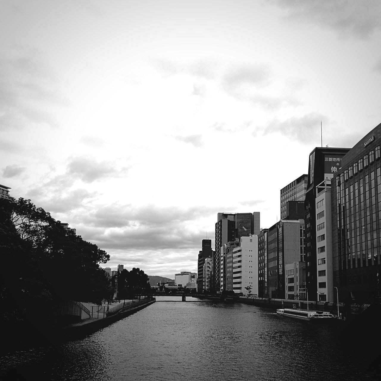 Japan Yodoyabasi River 淀屋橋 曇り 寒い Cold