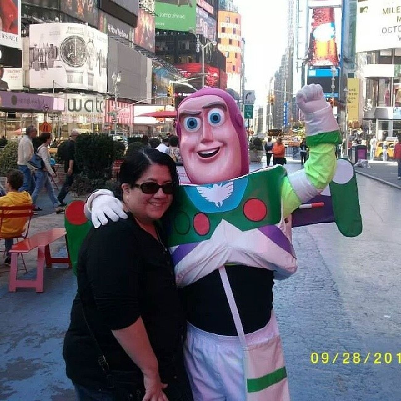 Me in times square in my favorite city! Lovenewyork Timesquare Vacation Buzzlightyear toystory newyorkcity nyc nycfeelings nycgazers newyorkfinest bigcity love Manhattan