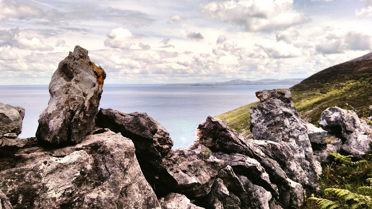 Rock - Object Cliff Cloud - Sky Landscape Lava Travel Destinations Horizon Over Water Tranquility Scenics Freelance Life My Unique Style Ireland🍀 Fanore, Ireland Ireland Is Beautiful Hdr Photography Taking Photos Outdoor Photography Ocean View Sea Beach Rocks Rock Wall