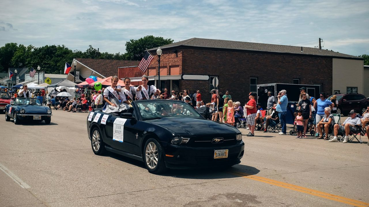 55th Annual National Czech Festival August 5, 2016 Wilber, Nebraska Celebration City City Life City Street Cloud Cloud - Sky Color Photography Czech Days Czech Festival Day Event Land Vehicle Lifestyles Main Street USA Midday Sunlight Mode Of Transport Mustang Nebraska Outdoors Parade Road Sky Smal Town USA Street Wilber, Nebraska