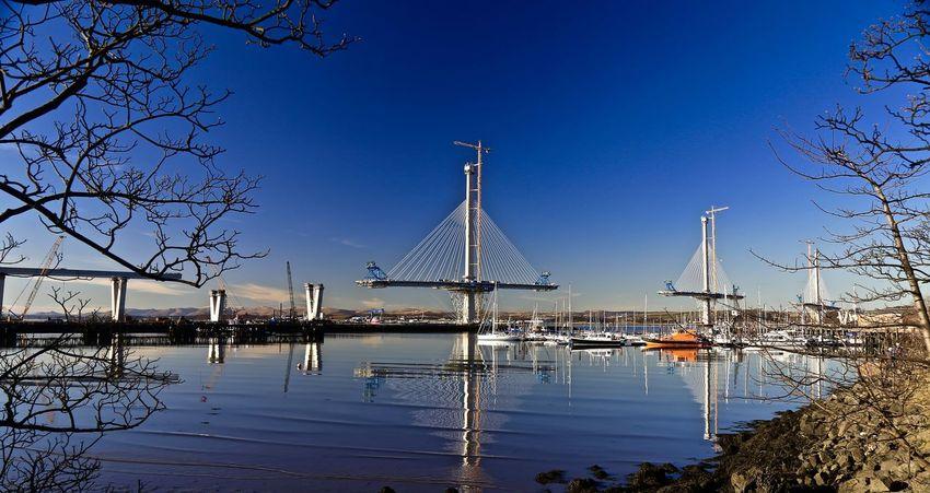 Cable-stayed Bridge Concrete Engineering Estuary International Landmark Marina Outdoors Sea And Sun Tourism Transportation Waterfront