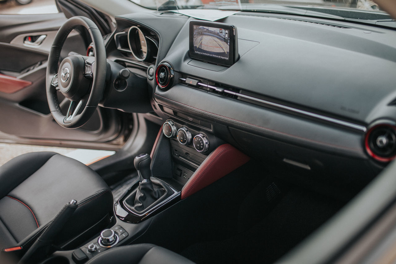 Car Car Interior Close-up Dashboard Day Land Vehicle Luxury Mazda Mode Of Transport No People Outdoors Speedometer Steering Wheel Transportation Vehicle Interior Vehicle Part