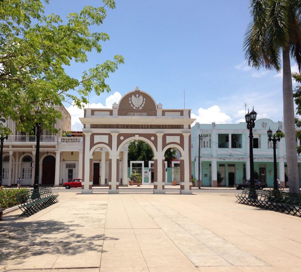 Arch Architecture Backpacking Building Exterior Built Structure Caribbean Cienfuegos, Cuba Cuba Day Dome No People Outdoors Place Of Worship Religion Sky Sunlight Travel Tree