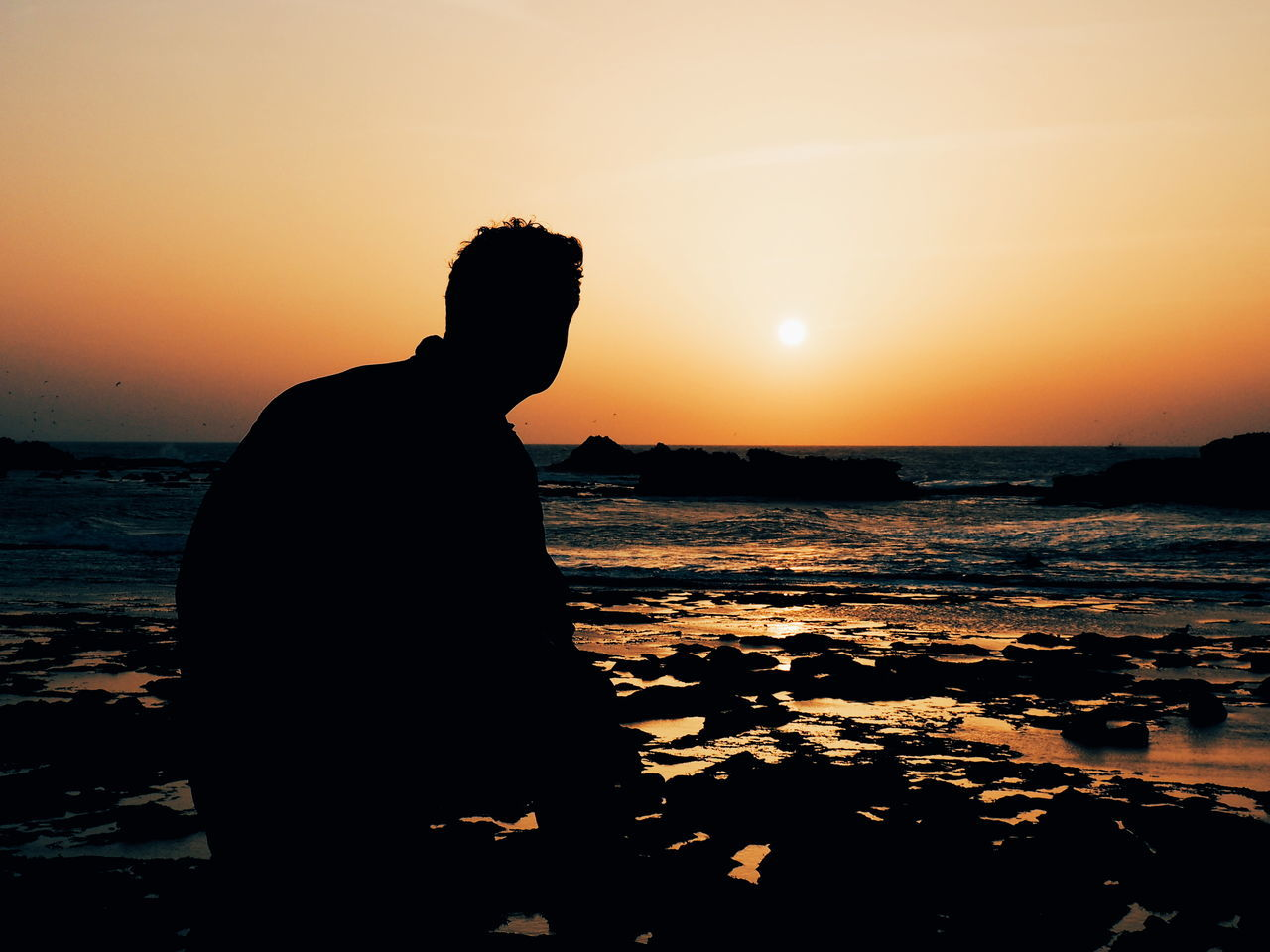 Sunset Silhouette One Man Only One Person People Night Sea Winter Beach Outdoors Sky Men Nature Portrait Water Horizon Over Water Morocco 🇲🇦 Orange Sky Dramatic Sky No People Morocco Sunset_collection Vacations Beauty In Nature Silhouette Neighborhood Map