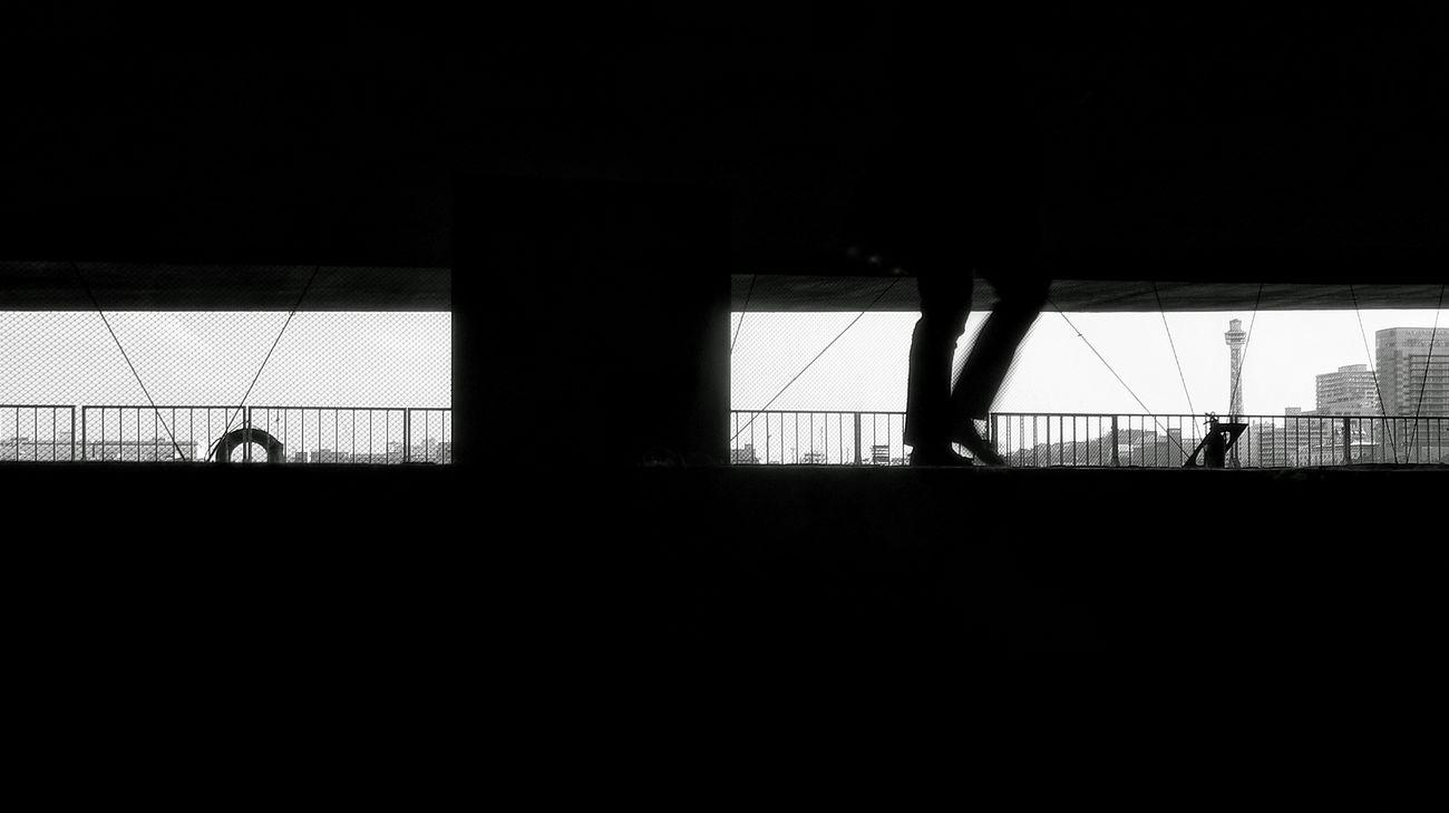 今週も横浜へ行ってきました⚓🚢 この写真拡大するとネットが印刷の網点みたいになっていて面白いことになってます(笑) Walking Man Silhuette Yokohama Cityscapes Blackandwhite Monochrome Walking Around Enjoying Life Taking Photos Light And Shade Silhouette Streetphotography Frame Within A Frame Yokohama Marine Tower EyeEm Best Shots EyeEm Best Edits EyeEm Best Shots - Black + White at 大さん橋, Yokohama-shi, Japan.