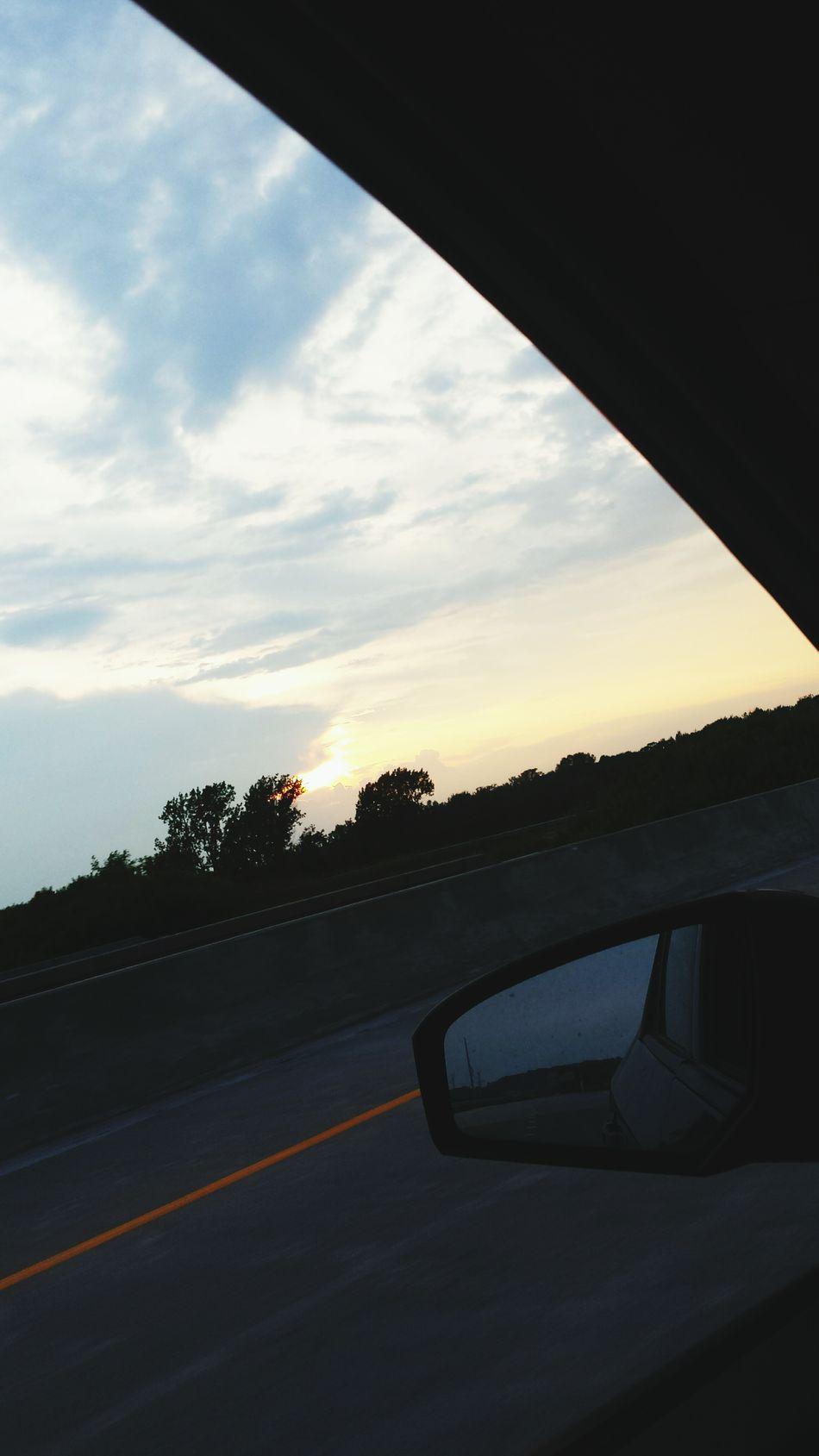 sunset drive-bys Capturingsunsets WhileDriving
