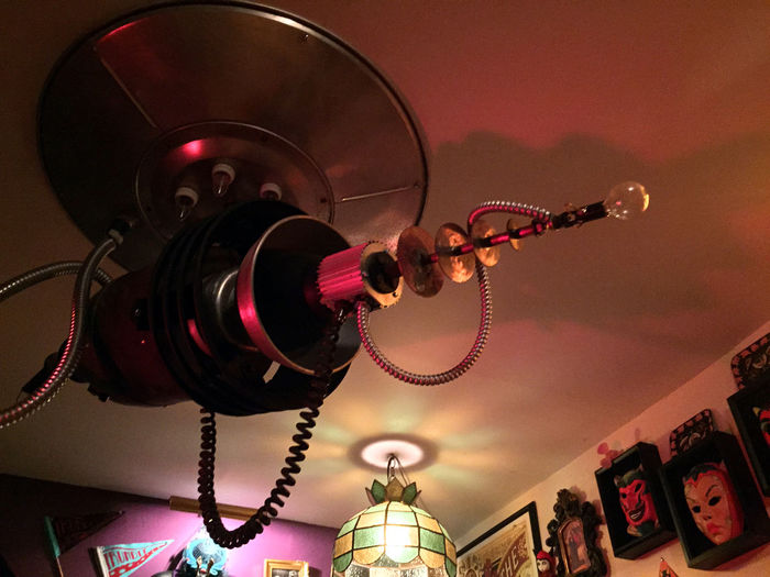 Close-up Decor Decoration Electric Lamp Electric Light Glowing Illuminated Light Light Bulb Lighting Equipment Lit Low Angle View No People Ornate Ray Gun Steampunk Trundlemanor