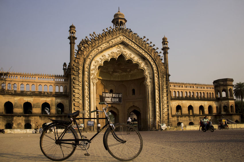 Travel Destinations Bicycle Architecture Cycling Arch Vacations Travel Tourism Built Structure Building Exterior History King - Royal Person City Lucknowdiaries Lucknow Lucknow👌City Pattern Roomi Gate Of Lucknow, Up, India