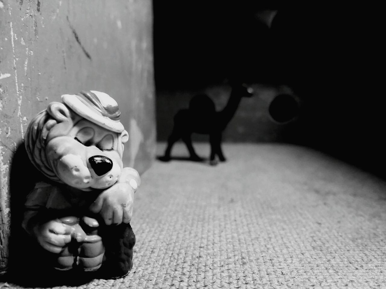 toy, animal representation, indoors, no people, table, childhood, stuffed toy, close-up, day, animal themes, mammal