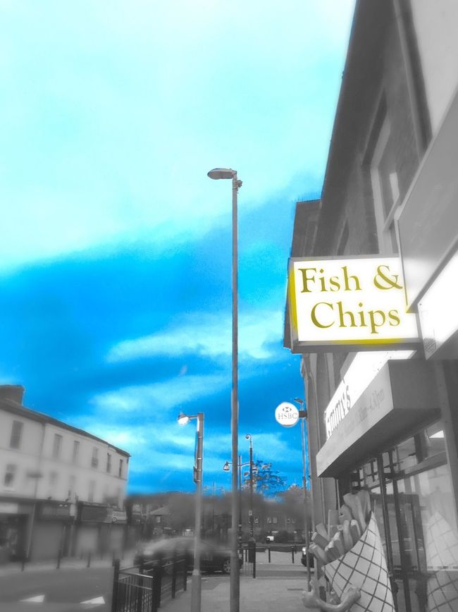 Fish And Chips Street City Chip Shop High Street