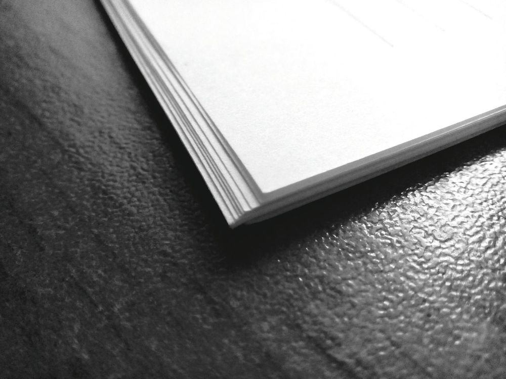 White Black Minimalism Paper Table