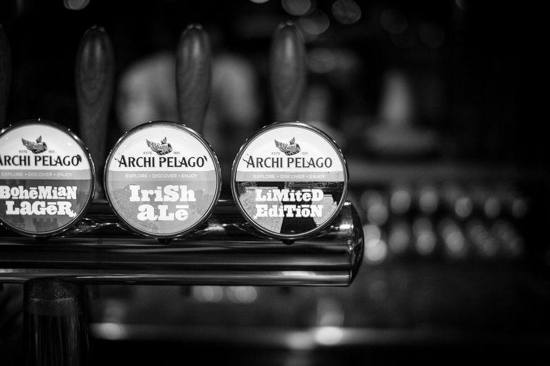 Drink up Beer Bar Black & White Drinks