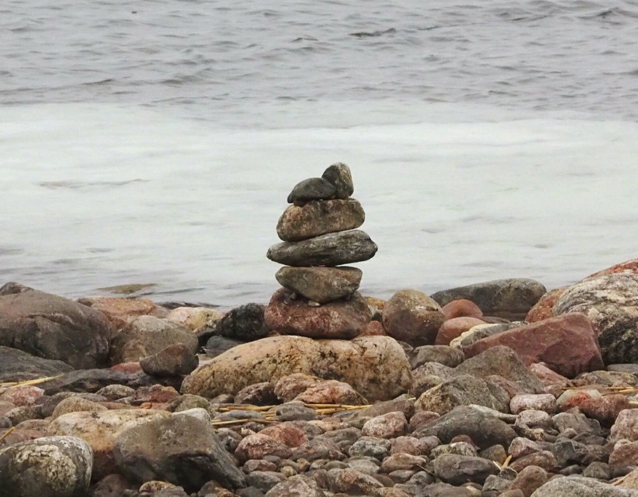 Rock - Object Zen-like Tranquil Scene Sea Nature Beauty In Nature Beach Water Scenics Winter Nature Outside Nature Tranquility Outdoors No People Stack