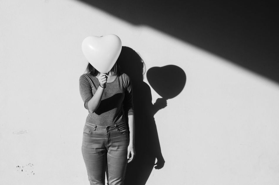 Heart takeover Real People Outdoors Low Angle View Women Heart EyeEm Best Shots Eye4photography  EyeEm Gallery EyeEm Best Shots - Black + White EyeEm Best Shots - People + Portrait Shadows & Lights Love