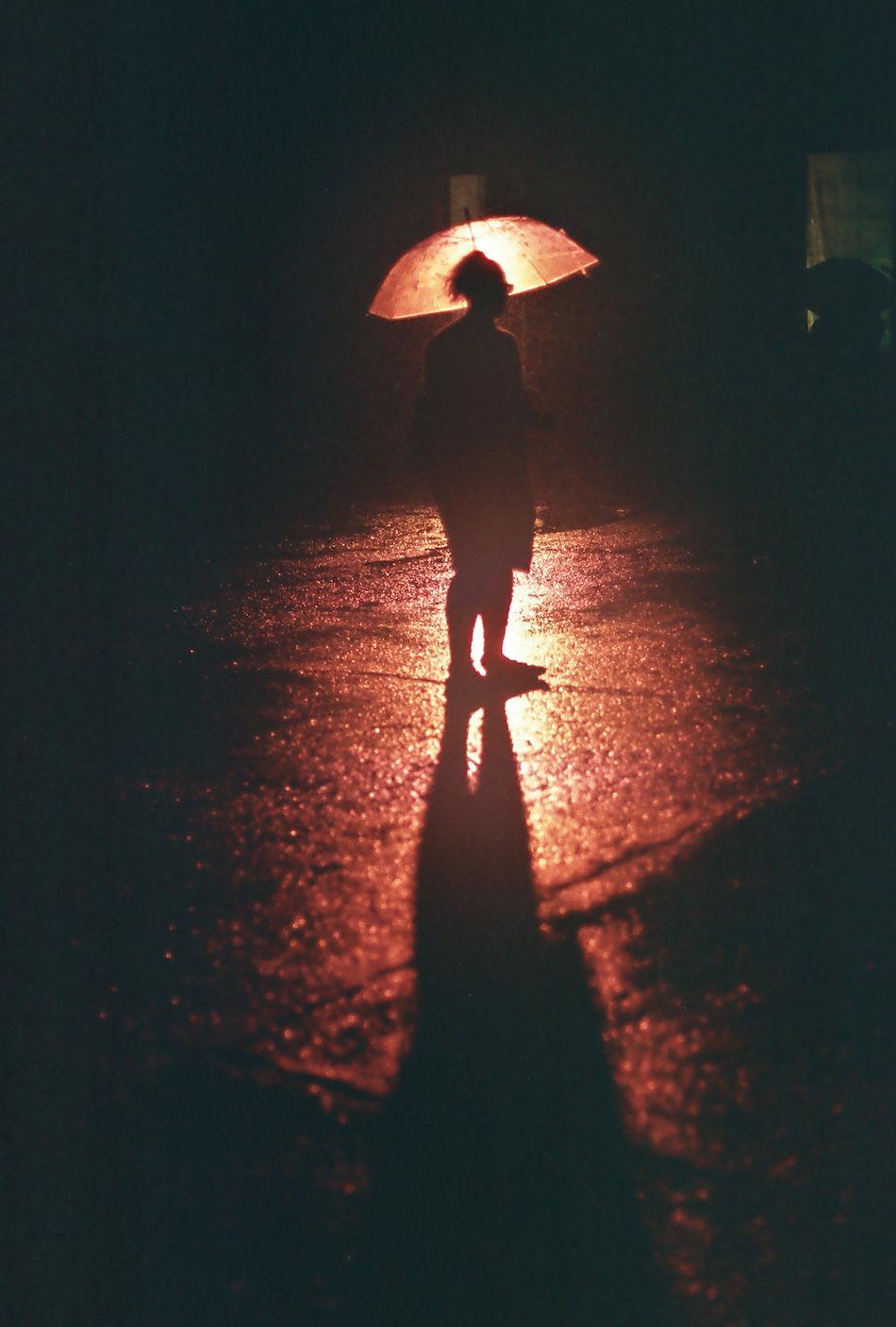Beautiful stock photos of umbrella, Casual Clothing, Full Length, Illuminated, Incidental People