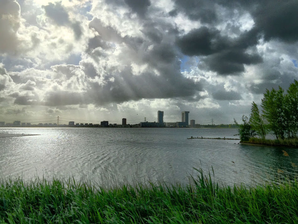 Architecture Cloud Cloud Cloud - Sky Clouds And Sky Horizon Horizon Over Water Lake Outdoors Rays Rays Of Light Rays Of Sunshine Rotterdam Sky Water Waterfront Zevenhuizerplas Zevenhuizerplas