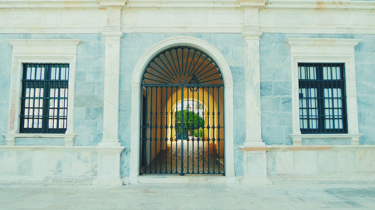 Windows and door of Ducal palace Door Windows light Façade ducal Palace marble Vila Vicosa portugal Landmark monument