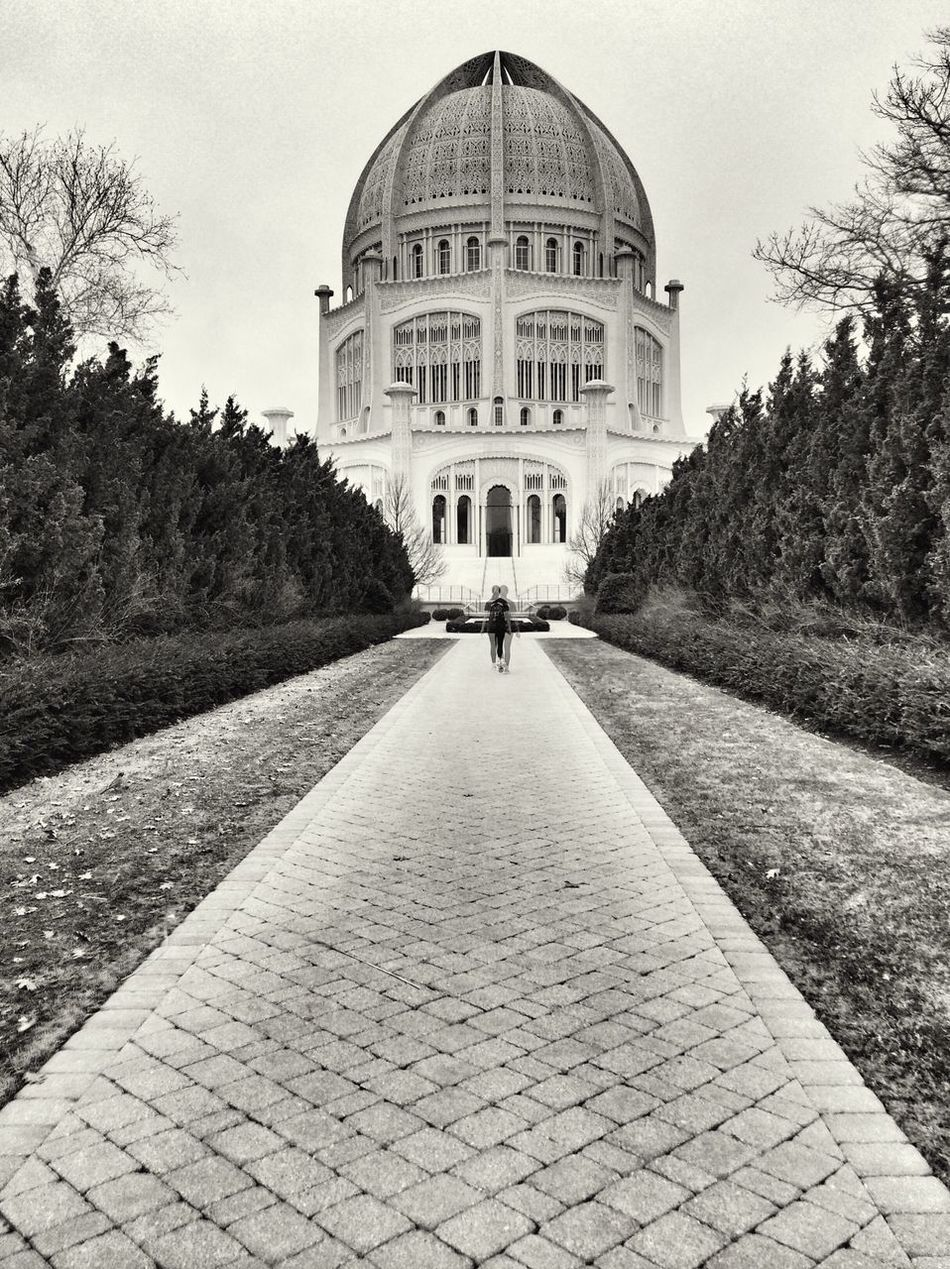 Coming going Bahai Temple Black & White The Architect - 2014 EyeEm Awards