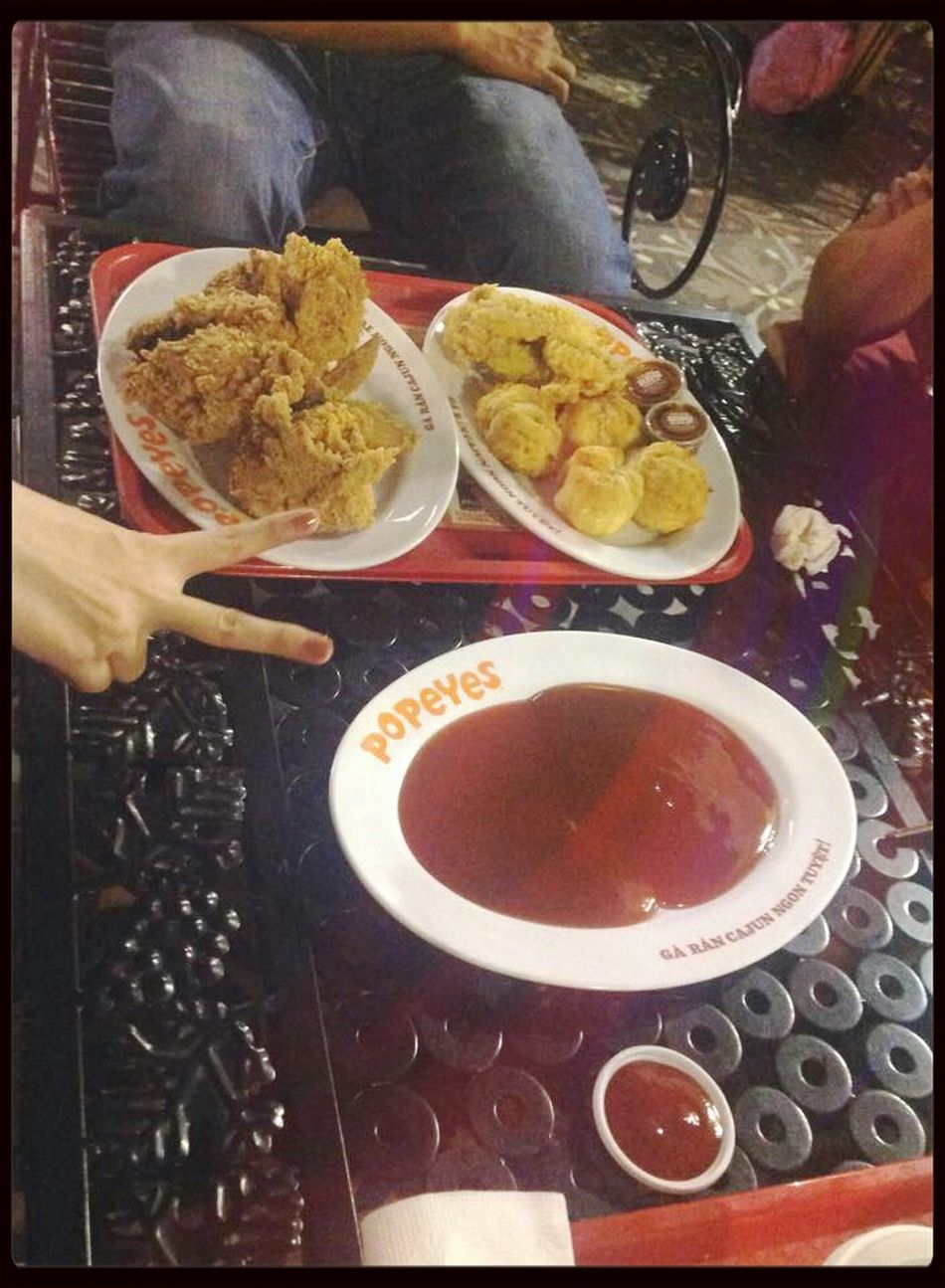 Popeyeschicken Yummy♡ Enjoying LifeHanging Out