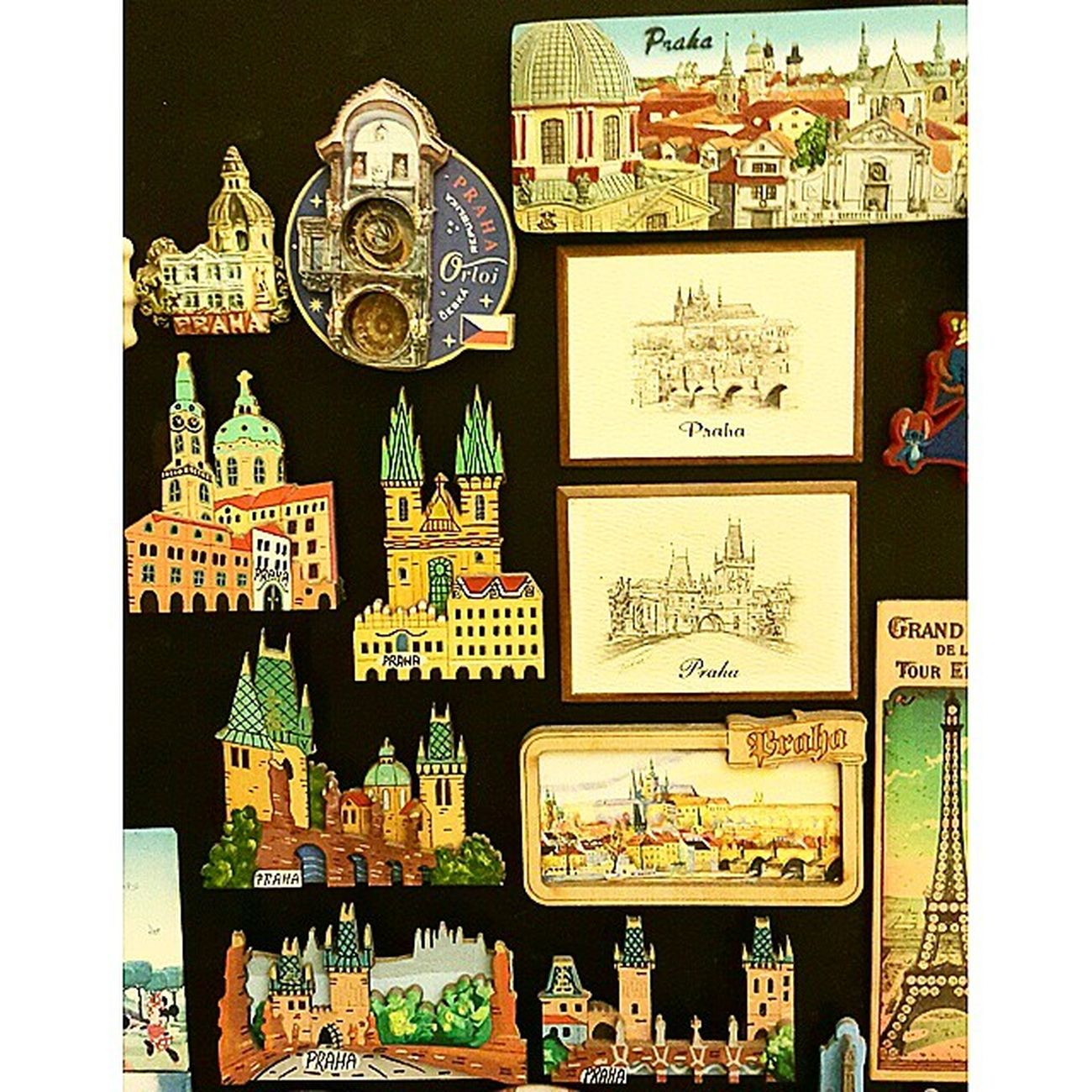 Magnet collections of Prague PrivateCollections PersonalCollections Collections Travelmania Travelers Prague Praha Czech