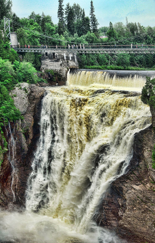Beauty In Nature Canada Dam Environment Montmorency Falls Outdoors Power In Nature Quebec Scenics Travel Destinations Water Waterfall