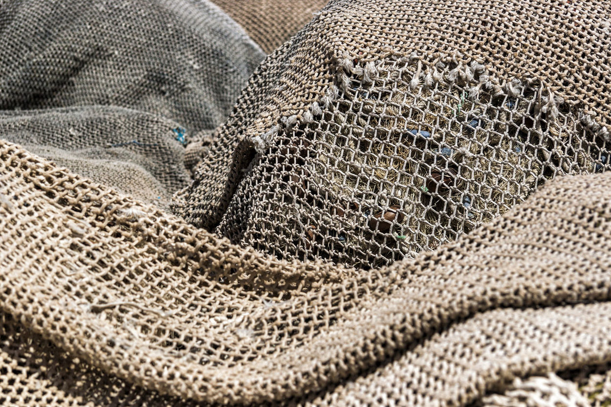 Netting 09 Detail Fabric Fabric Detail Fishing Harbour Harbour View Harbourside Large Group Of Objects Mediterranean Culture Net Netting Repetition Still Life Textures