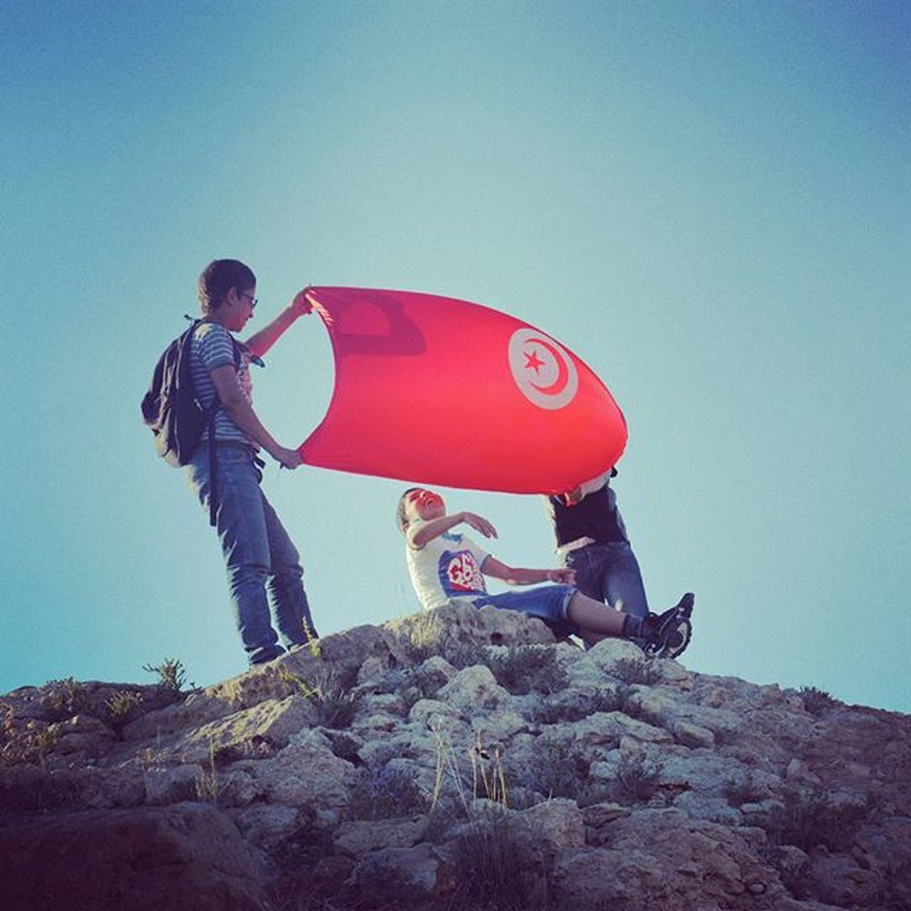 Tunisia IgersTunisia Flag Top Kids Happiness The_tunisian_brand التوانسة <3