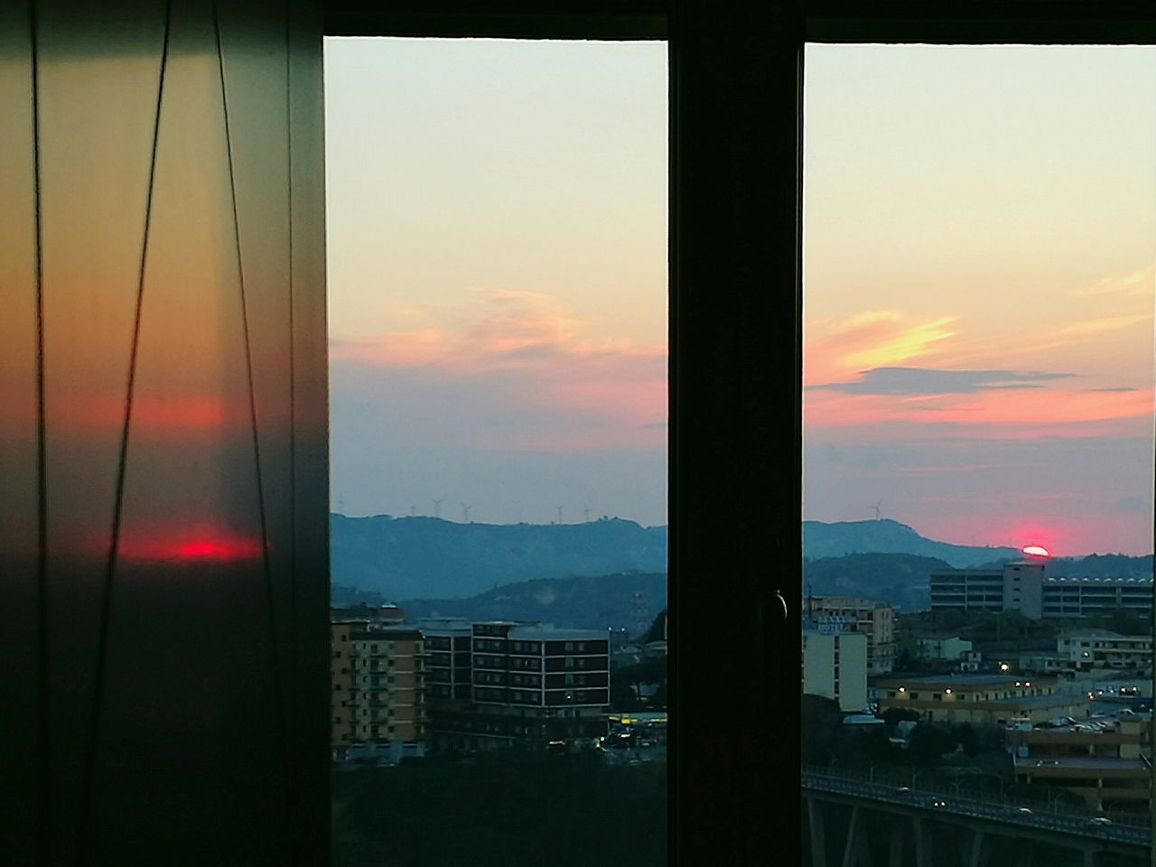 In&Out Sunset Window Sunset Cityscape City Sky Nature Reflection_collection Reflection Perfection  Sunset_captures Building Exterior Built Structure