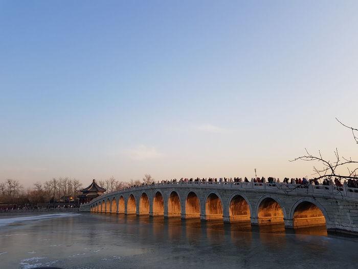 Sky Water Bridge - Man Made Structure Clear Sky Nature Travel Destinations Sunset EyeEmNewHere EyeEm Ready