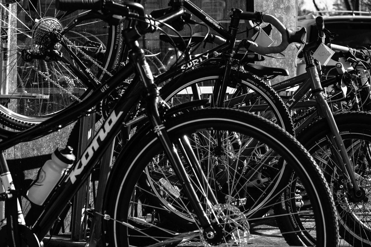 Bicycle Transportation Mode Of Transport Spoke Wheel Land Vehicle No People Stationary Outdoors Day