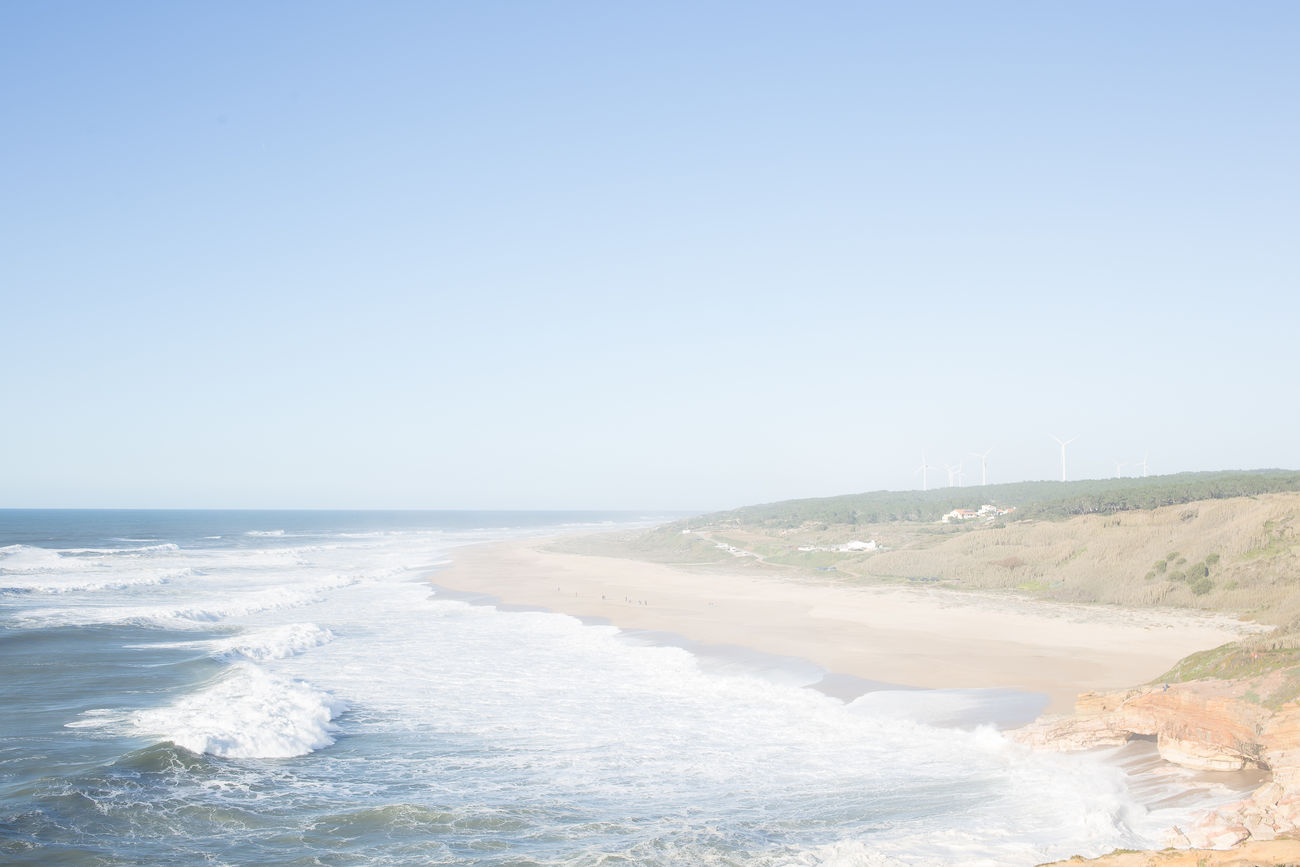beautiful portugal Beach Blue Clear Sky Day Horizon Over Water Nature No People Ocean Outdoors Scenics Sea Sky Tranquility Water Wave