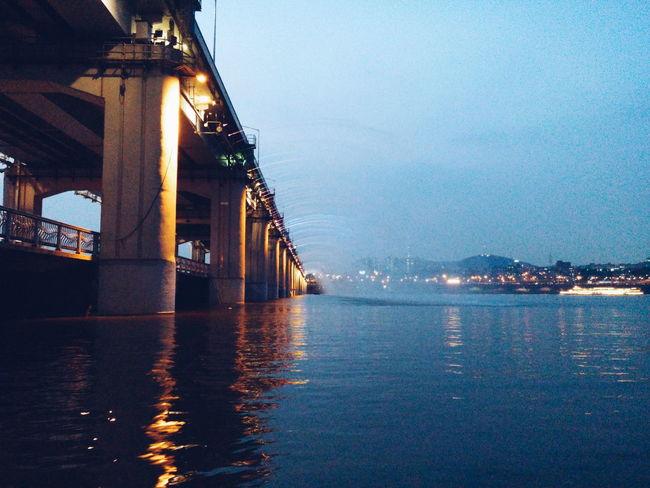 Banpo Hangang Park Banpo Bridge Seoul Han River Korea Travel Photography Destination Bridge banpo bridge at night over han river in seoul south korea