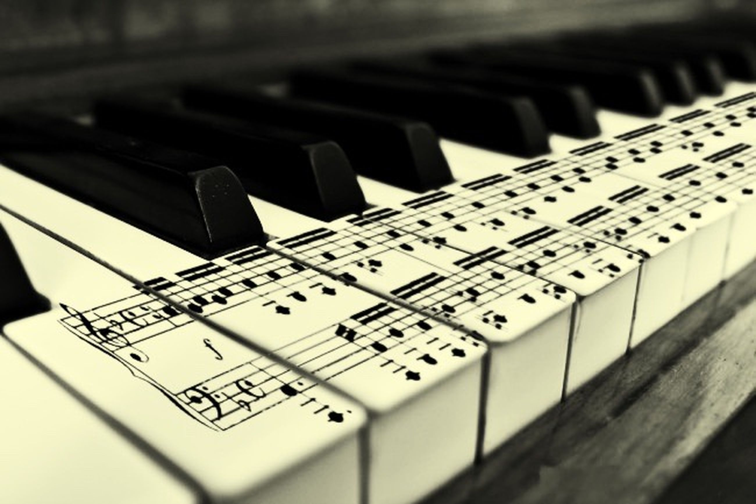 indoors, communication, text, close-up, western script, selective focus, music, technology, number, in a row, arts culture and entertainment, piano key, musical instrument, education, computer keyboard, connection, alphabet, still life, piano, repetition