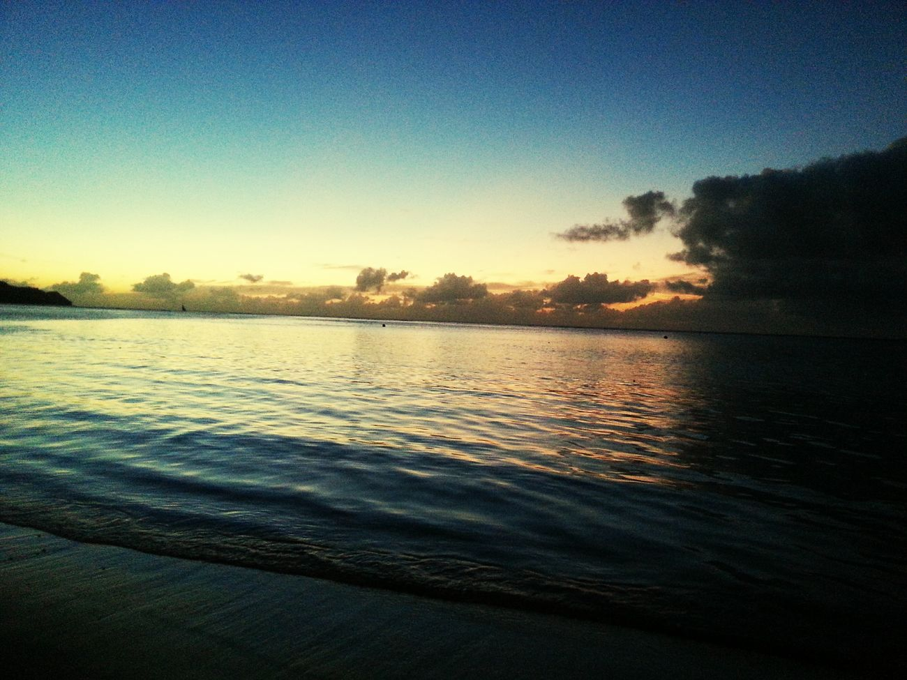 Sunset Traveling In Guam