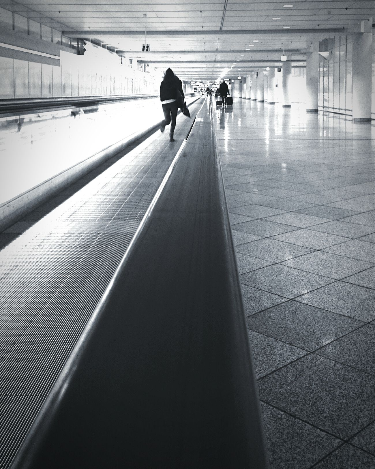 """""""Runway"""" On The Move Last-minute Flight Running Late Airport Architecture_bw Saturdaysong_eyeemchallenge RePicture Travel In The Terminal The Traveler - 2015 EyeEm Awards Alternative Fitness Let's Go. Together."""