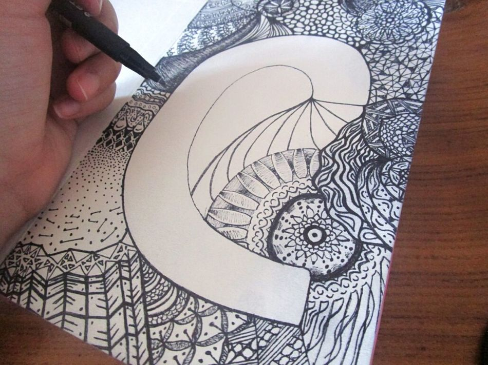 Pattern Zentangle Art Myartwork Drawing Close-up Inspiration Relaxing Time Day Getting Inspired Taking Photos Hobby