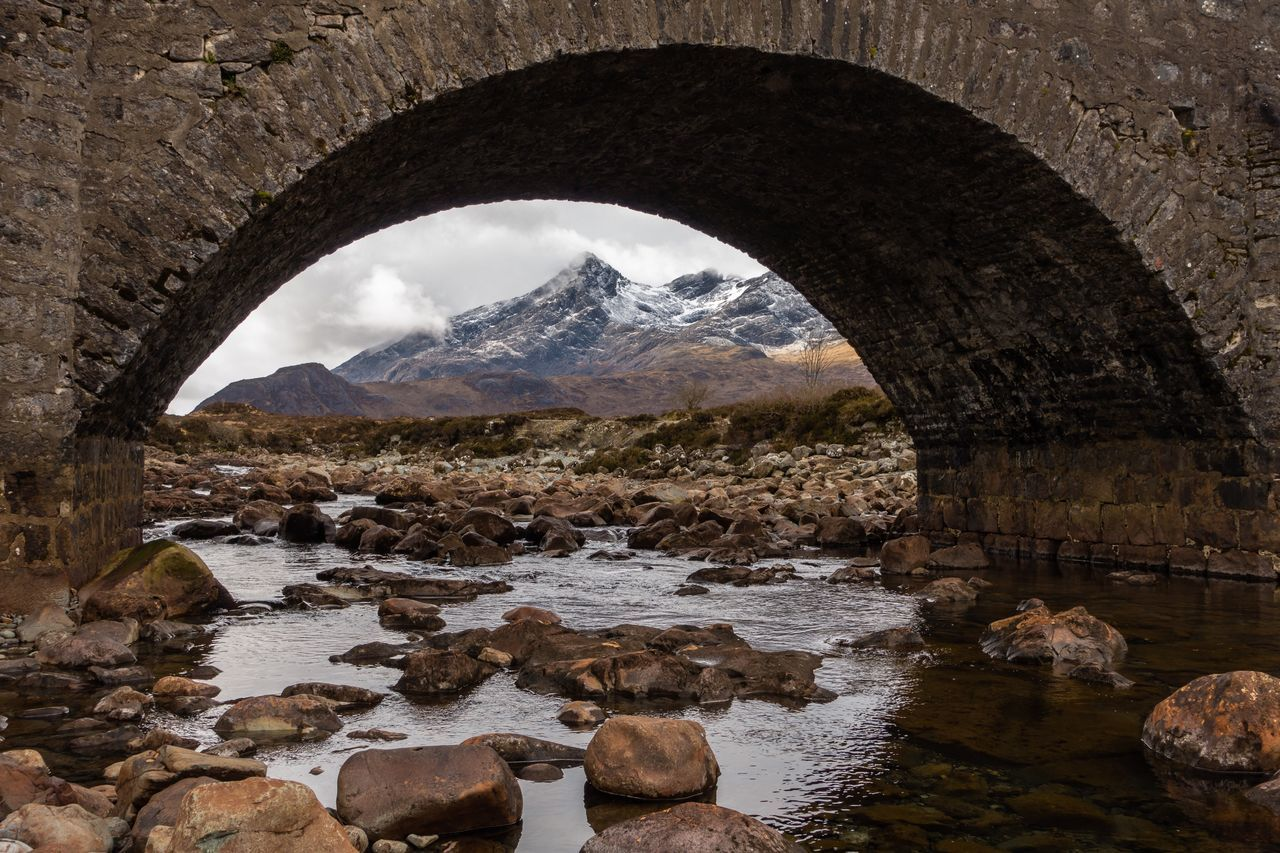 The Northern Cuillin Isle Of Skye Bridge Mountains Mountain Mountain Range Mountain View Mountains And Sky Mountain_collection Landscape Landscape_Collection Landscape_photography Landscape Photography Highlands Landscapes Scotland Scottish Highlands River River View River Collection Taking Photos Snow