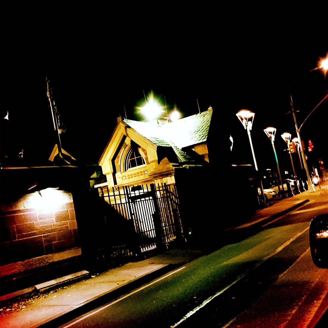 night, illuminated, outdoors, no people, sky