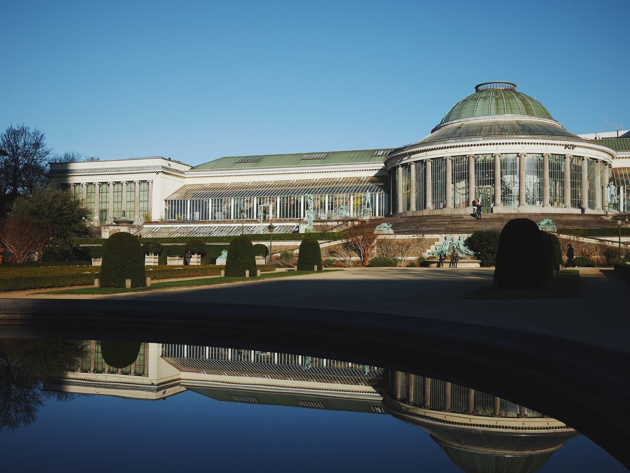 Reflection City Travel Water Architecture Outdoors Sky No People Day Le Botanique Botanic Botanical Garden Reflected Glory Brussels Belgium Architecture The Architect - 2017 EyeEm Awards