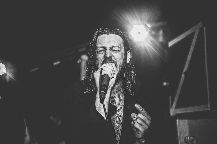 Lawrence Taylor, While She Sleeps. Blackandwhite Bring Me The Horizon Gig Live Music Metal Music Musician Performance Rock Musician While She Sleeps First Eyeem Photo