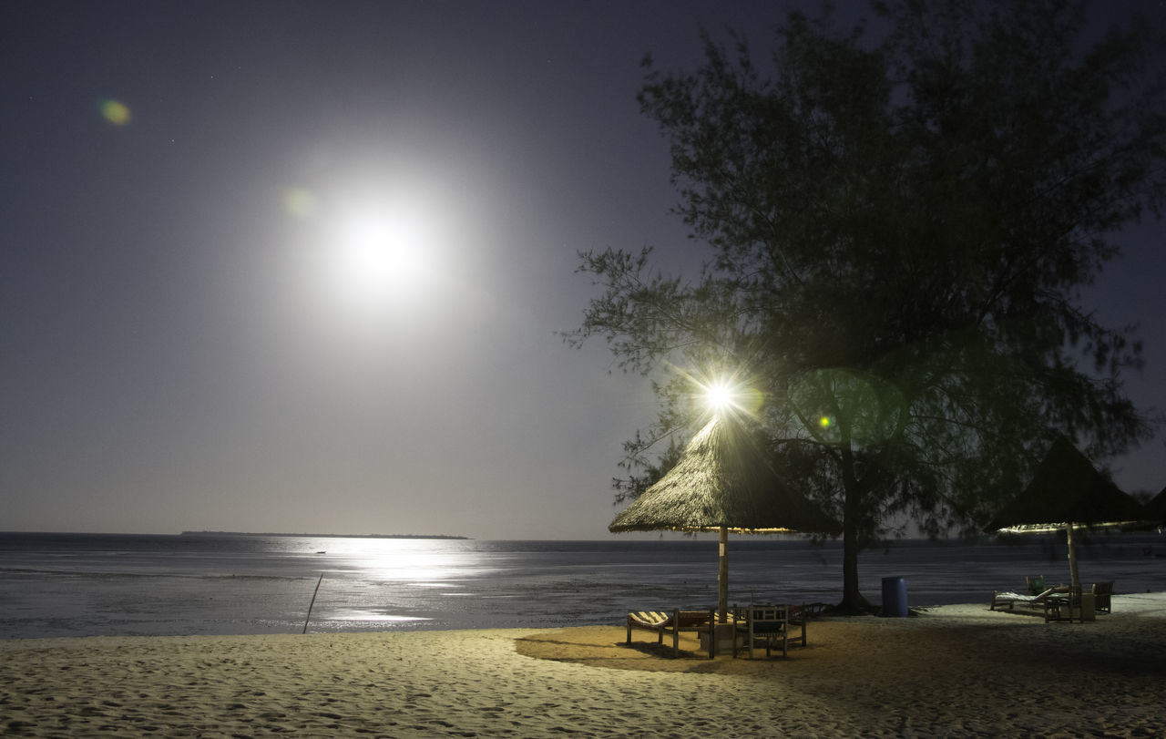 GoodNightKigamboni Beauty In Nature Daressalaam Foggy Weather Full Moon Illuminated Night No People Ocean View Oceanside Sea Tansania Tranquil Scene Tranquility Water