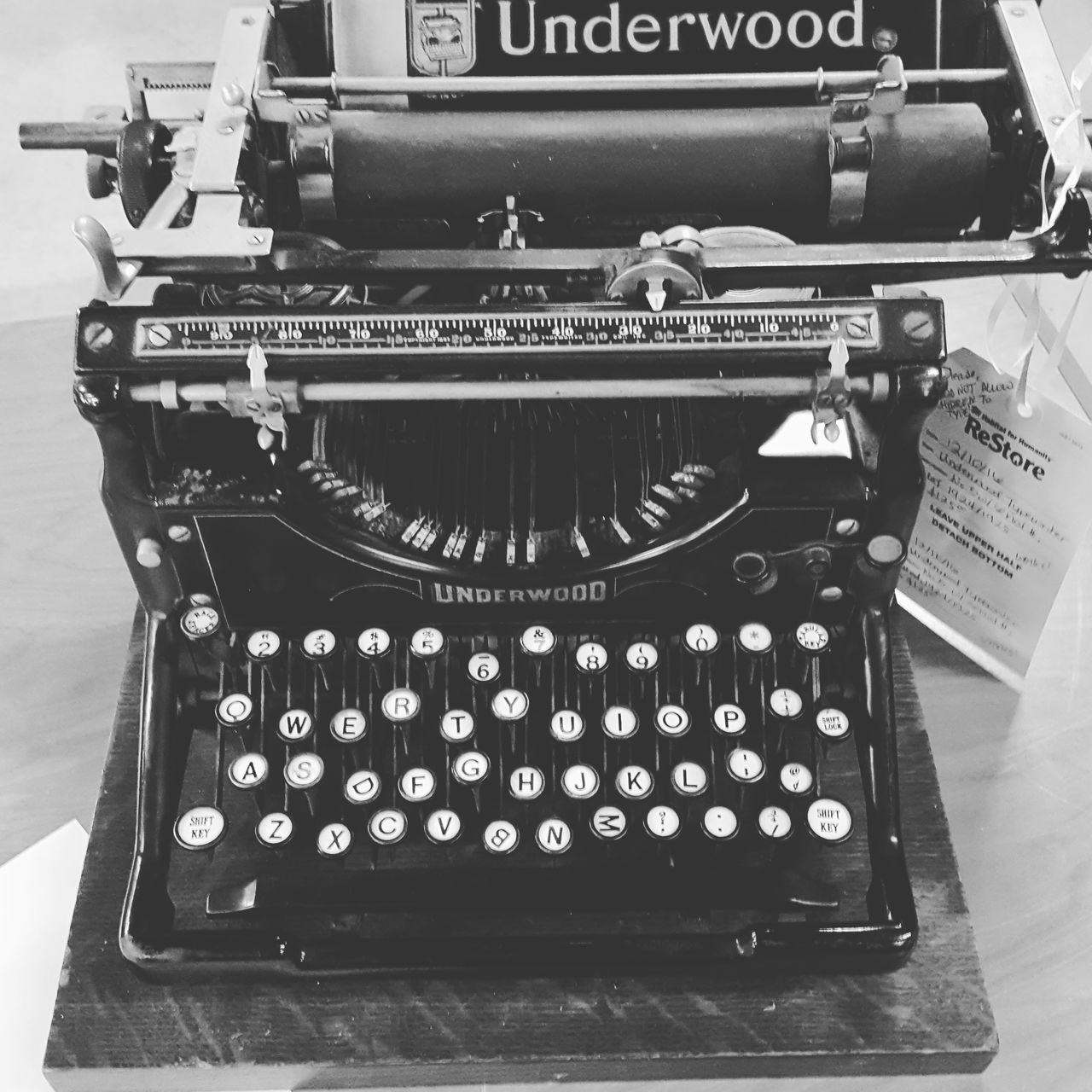 Antique Close-up Communication Day Indoors  No People Nostalgia Number Old-fashioned Printing Press Text Typewriter