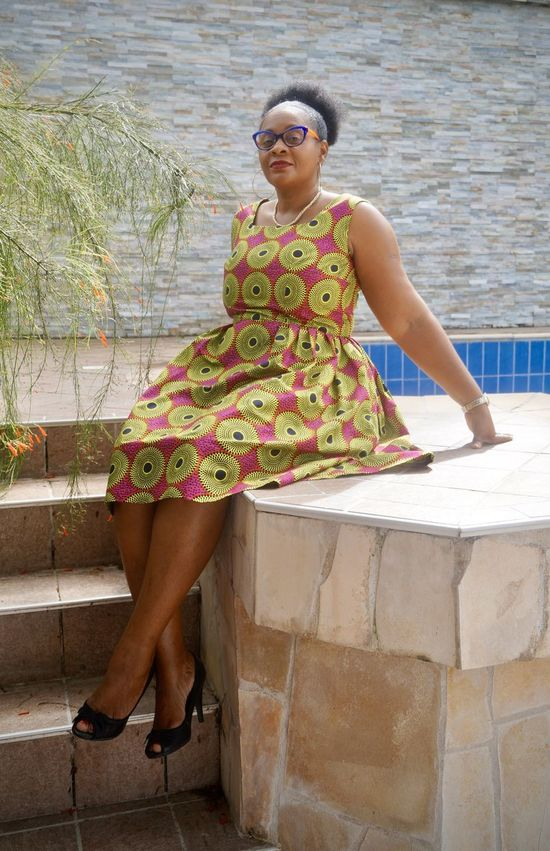 Portrait Of A Woman Mommy Classy Lady Waxclothing Africanclothes Swimming Pool Curvylady