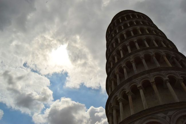 Torre di Pisa. Pisa Pisa Tower Tower Building Architecture Torre Sun Sky Clouds Leaning Holiday Trip